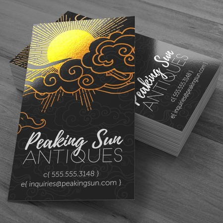 Metallic Business Cards - Full Color Foil Cards UPrinting